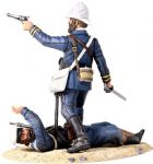 "WB27021 ""Close Call"" British Naval Brigade Officer Defending Royal Navy Wounded Abu Klea 1885 Limited Edition 400 Sets"